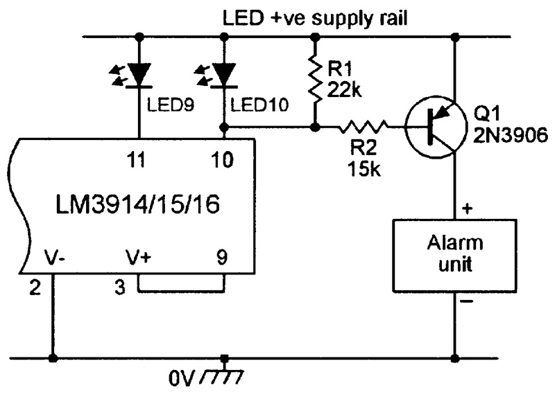 led \u0027graph\u0027 circuits nuts \u0026 volts magazinean over range alarm driver circuit, for use with bar type displays