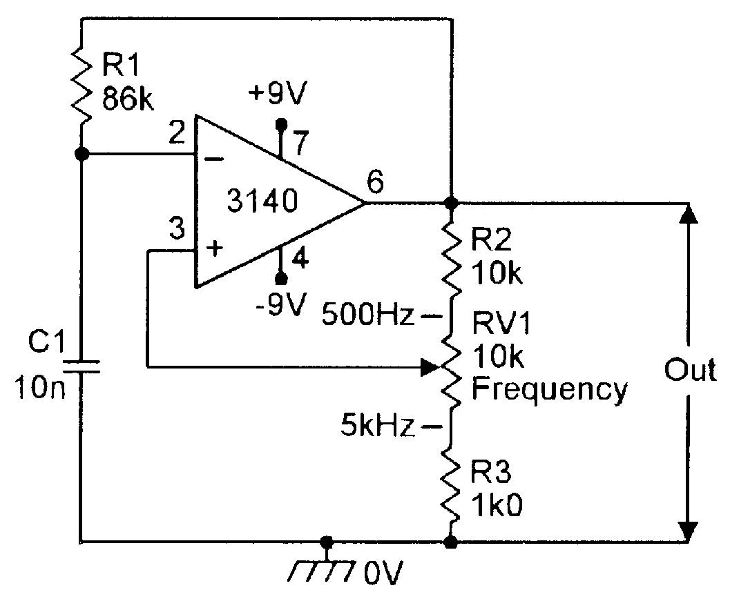 Op Amp Cookbook Part 3 Nuts Volts Magazine Sine Wave Square And Modified Diagram Simple 500hz 5khz Squarewave Generator