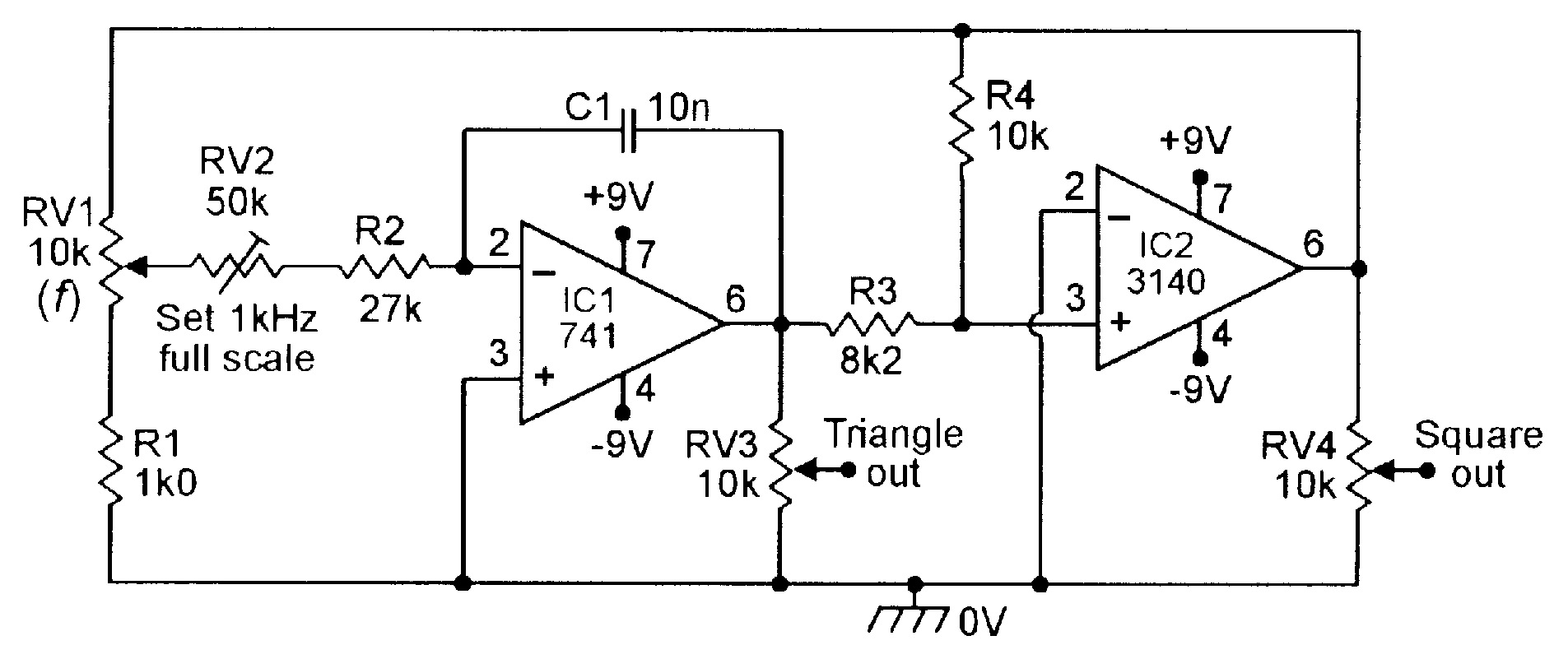 Op Amp Cookbook Part 3 Nuts Volts Magazine Transistoroscillatorcircuits Twotransistorsinewaveoscillator 100hz 1khz Triangle Square Function Generator