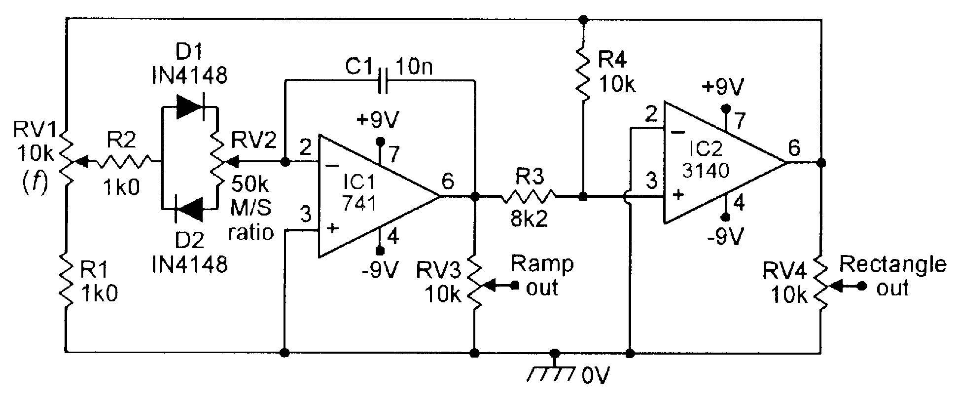 Op Amp Cookbook Part 3 Nuts Volts Magazine Simple Low Battery Indicator Circuit Using Ic 741 Homemade 100hz 1khz Ramp Rectangle Generator With Variable Slope M S Ratio