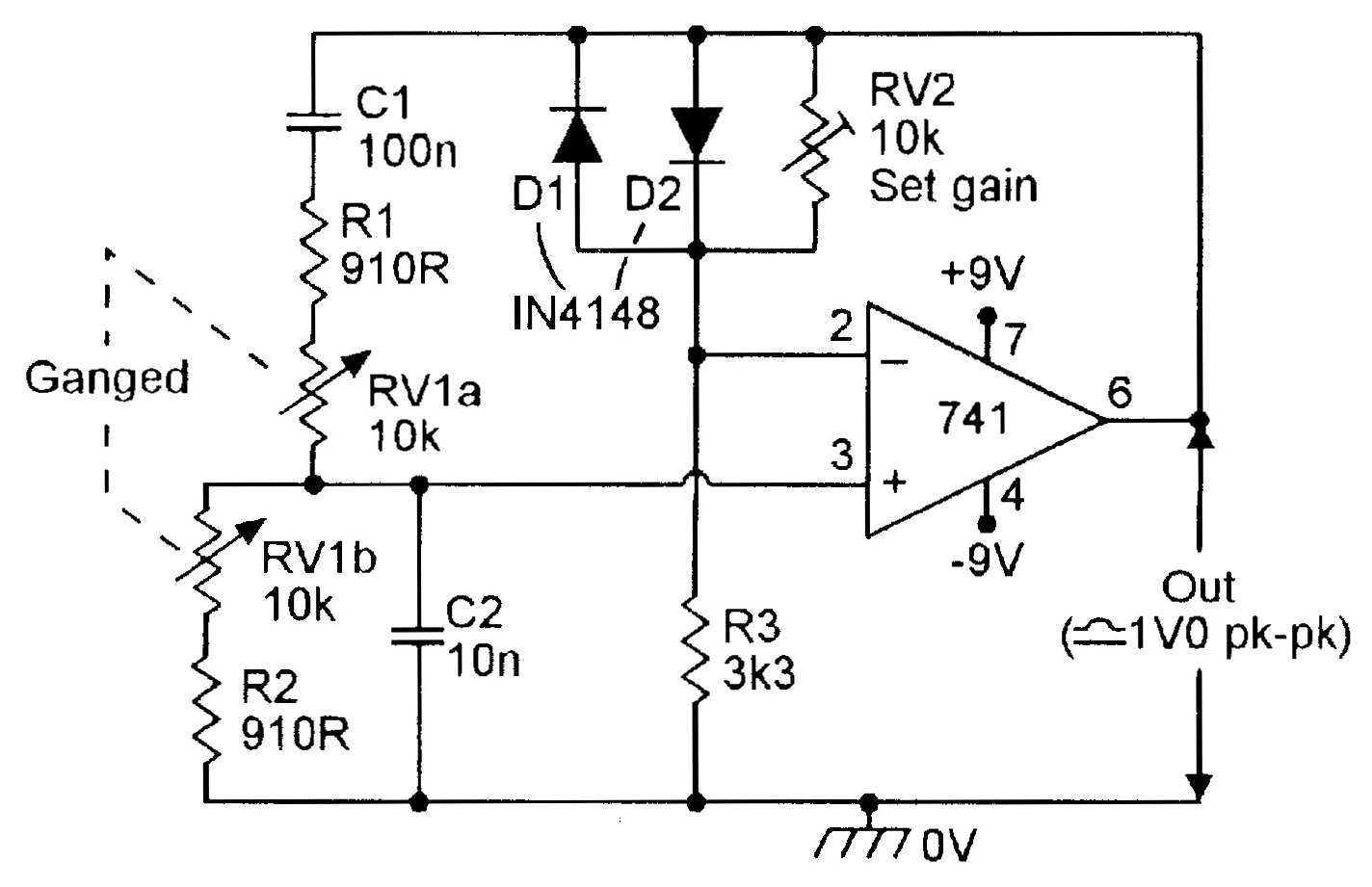 OP-AMP COOKBOOK — Part 3 | Nuts & Volts Magazine on spectrum analyzer schematic, signal generator schematic, electronic mixer schematic, tone control circuit schematic, ammeter schematic, voltmeter schematic, voltage divider schematic, led circuit schematic, breadboard schematic, frequency counter schematic, transistor tester schematic, function generator schematic, current source schematic, gyrator schematic, marx generator schematic, lead-lag schematic, multimeter schematic, esr meter schematic,