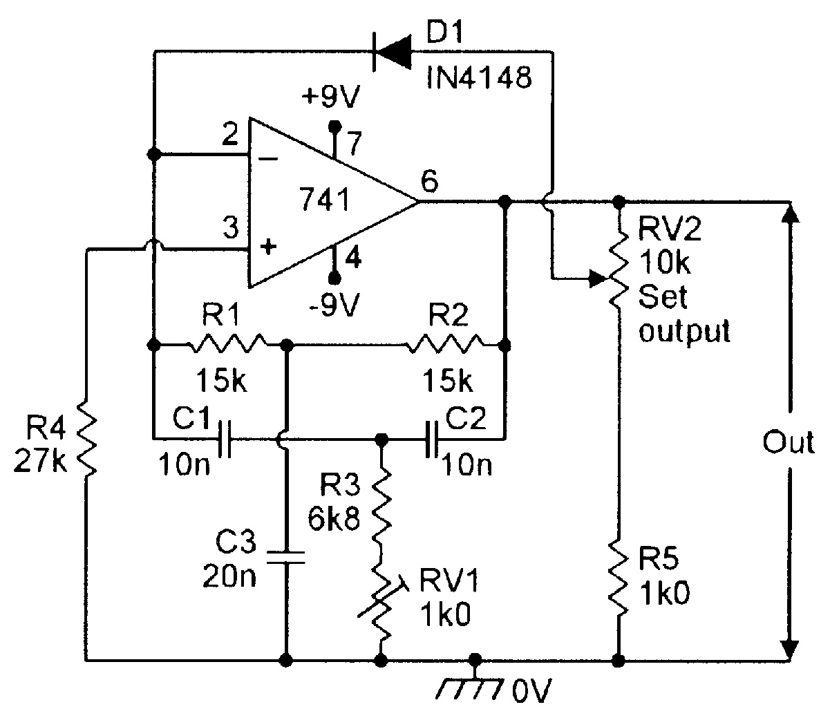 Op amp cookbook part 3 nuts volts magazine for the figure 8 diode regulated 1khz twin t oscillator pooptronica