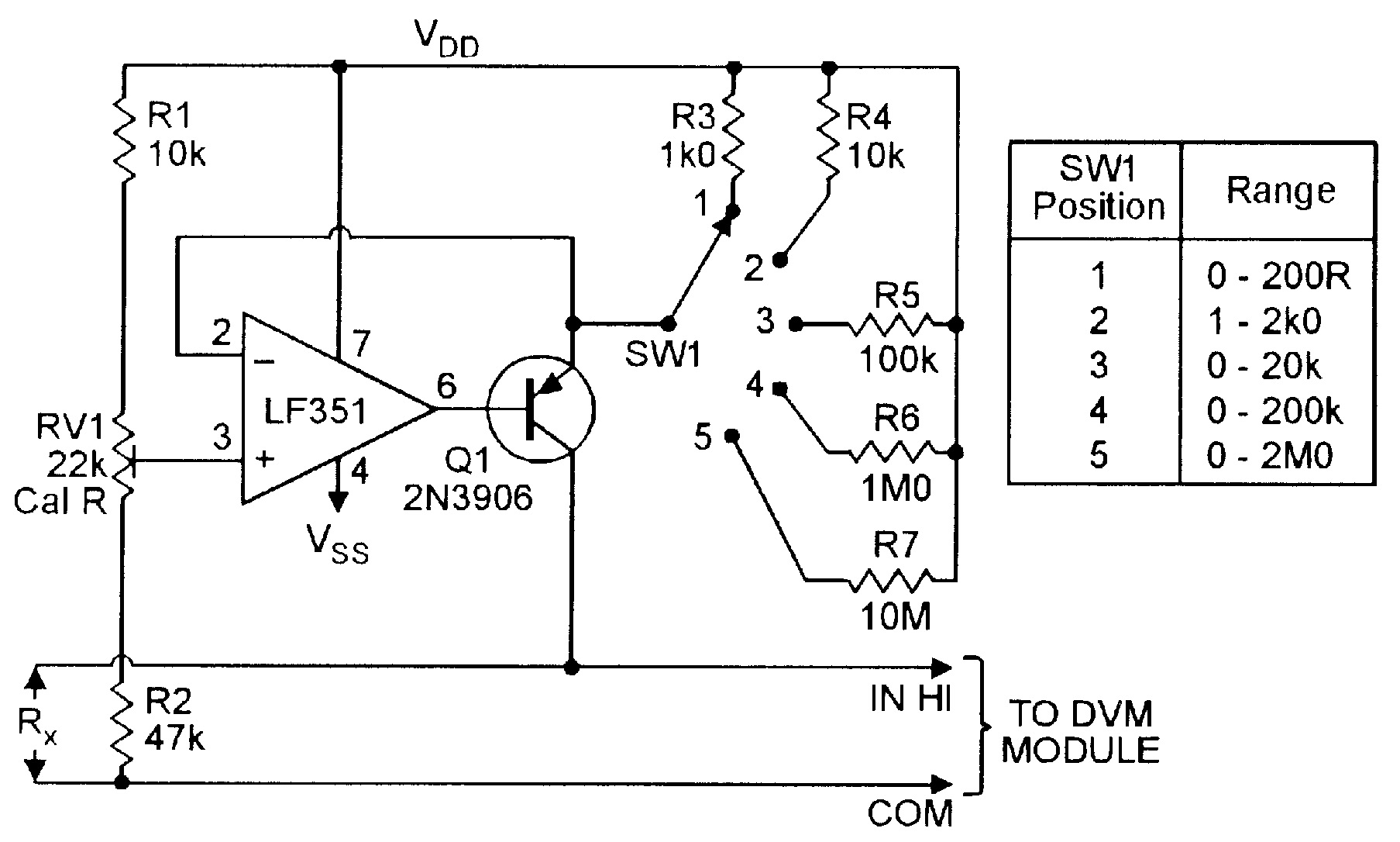 Dc Voltmeter Circuit Wiring Diagram Master Blogs Simple Digital Op Amp Cookbook Part 4 Nuts Volts Magazine Basic Ac