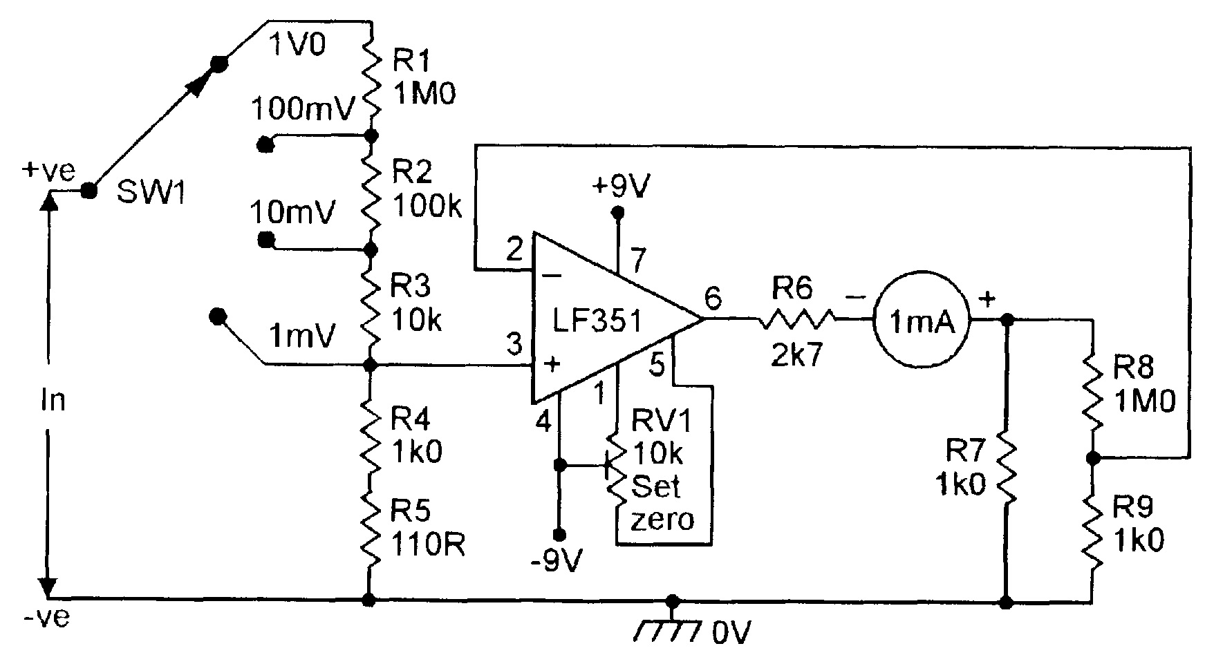 Op Amp Cookbook Part 4 Nuts Volts Magazine This Circuit Changes The Voltage To Current Can Provide Dc Four Range Millivoltmeter