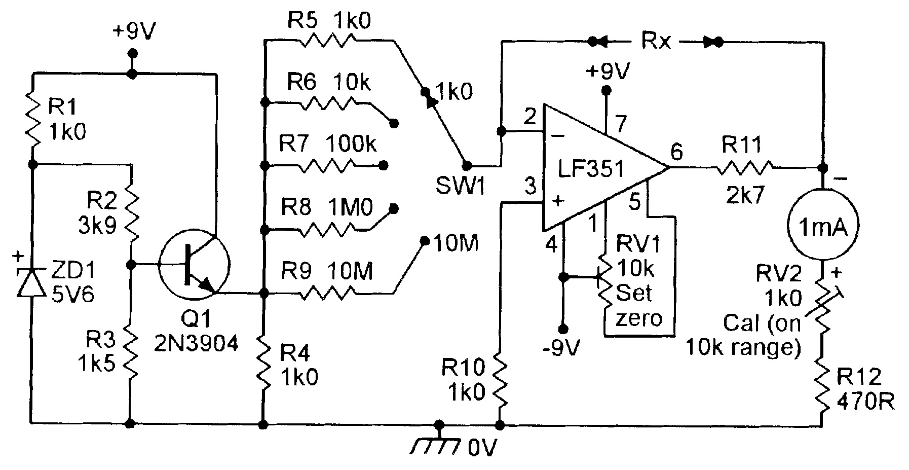 Swell Circuits Diagrams In Addition Simple Ohmmeter Circuit Diagram On Wiring 101 Cajosaxxcnl