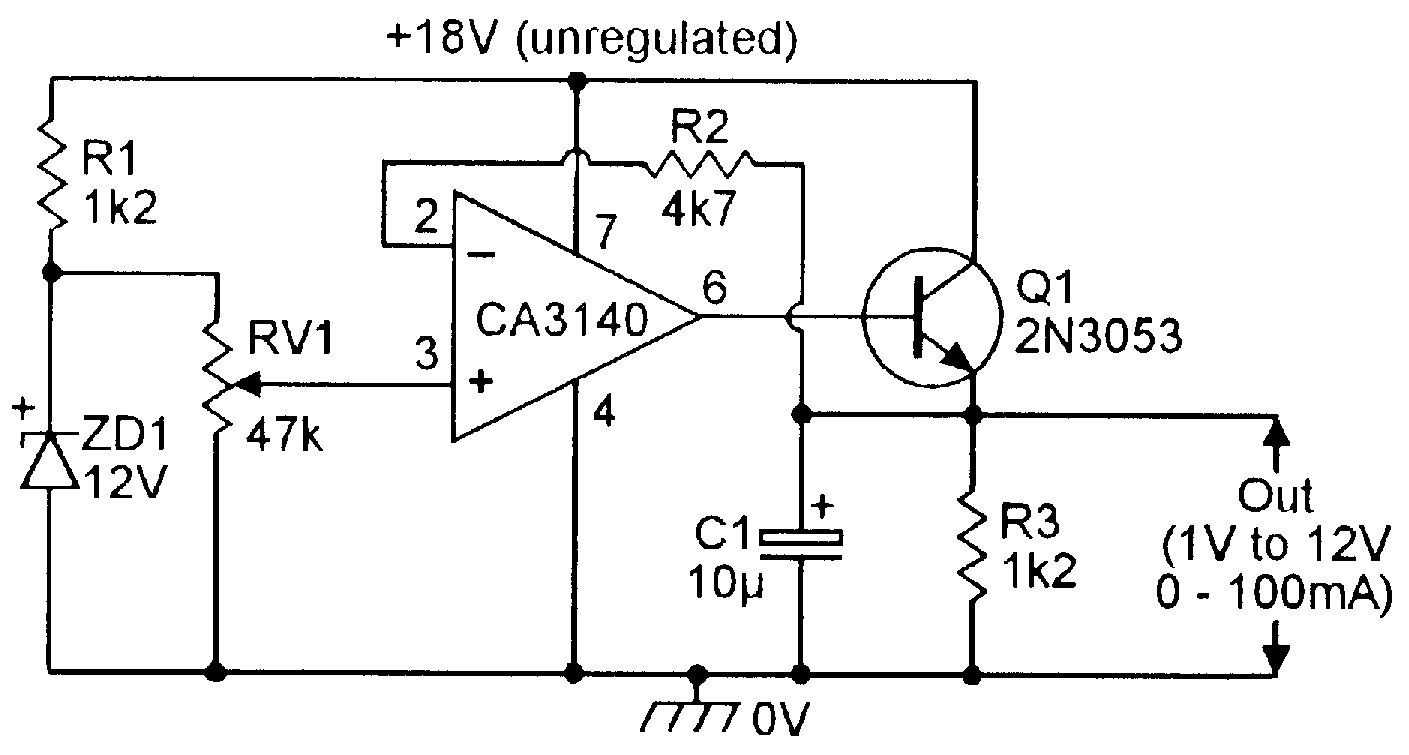 Op Amp Cookbook Part 4 Nuts Volts Magazine Variable Power Supplies Projects And Circuits Simple Voltage Regulated Supply