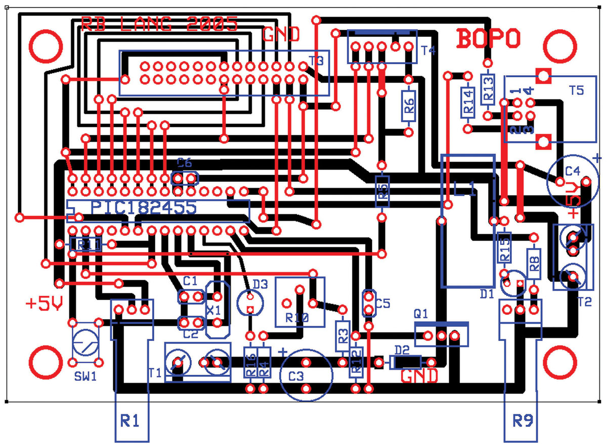 The High Voltage Pic Part 2 Nuts Volts Magazine Figure Components Layout Of This Circuit Pcb Showing Jumper Wires