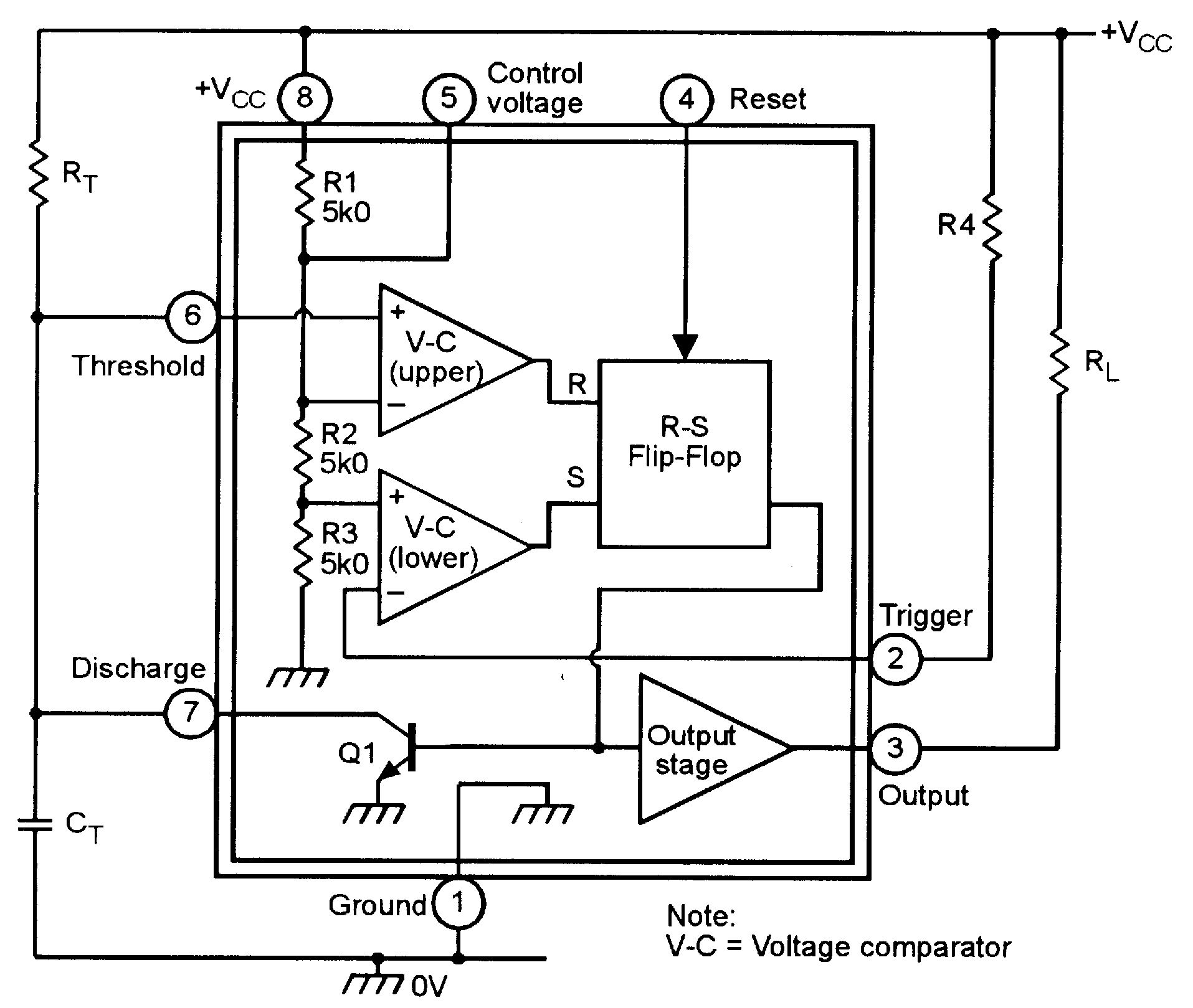 Circuit Diagram 555 Wiring Library Internal Of Timer Monostable Circuits