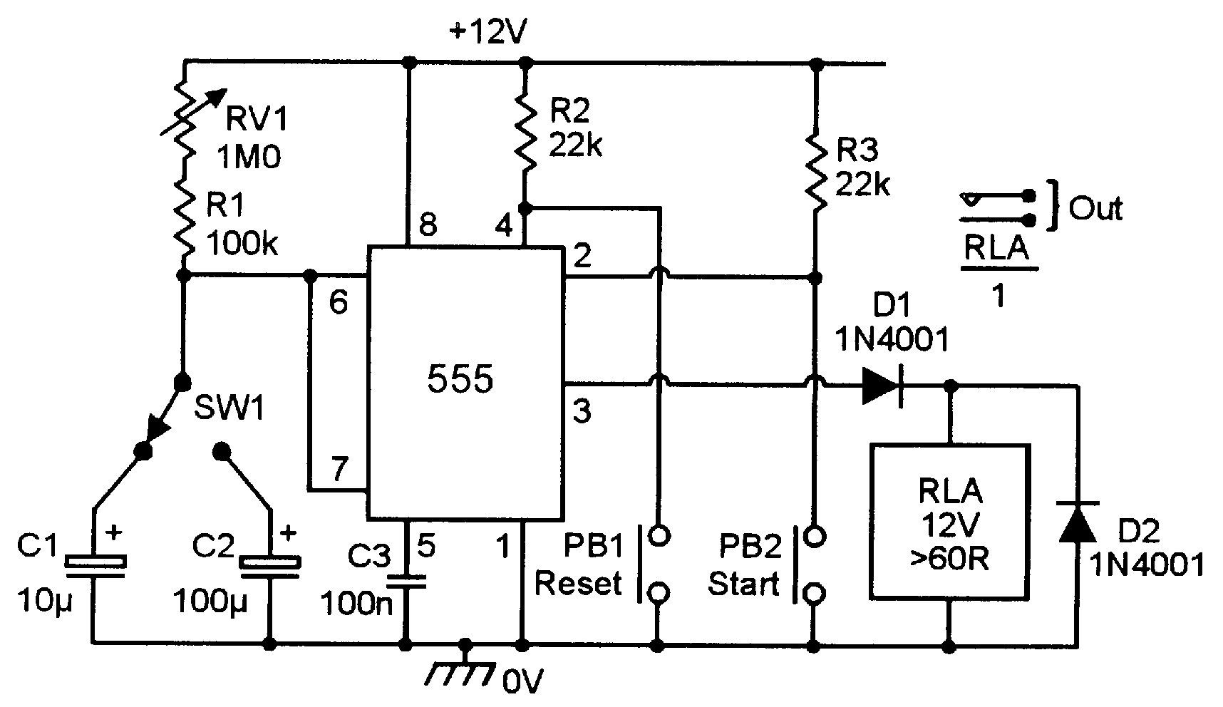 High And Low Frequency Noise Generator Schematic 555 Monostable Circuits Nuts Volts Magazine