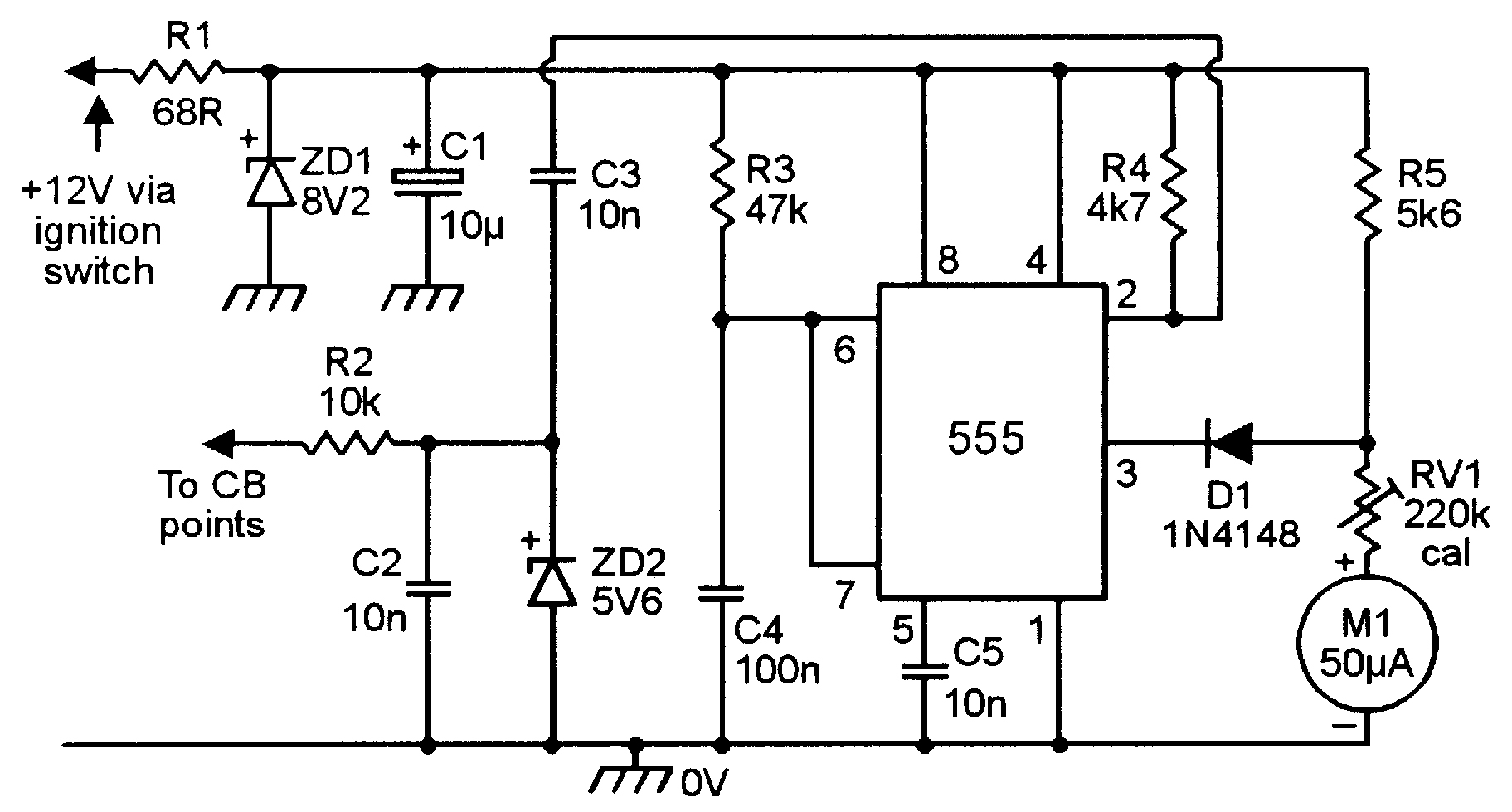 555 Monostable Circuits Nuts Volts Magazine Figure 2 Voltage Divider Setting Comparator Input Analog Frequency Meters 17