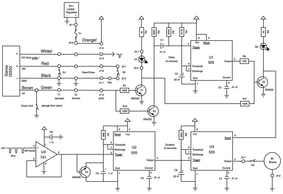 genie garage door openers sensor wiring diagrams garage alarm nuts   volts magazine  garage alarm nuts   volts magazine