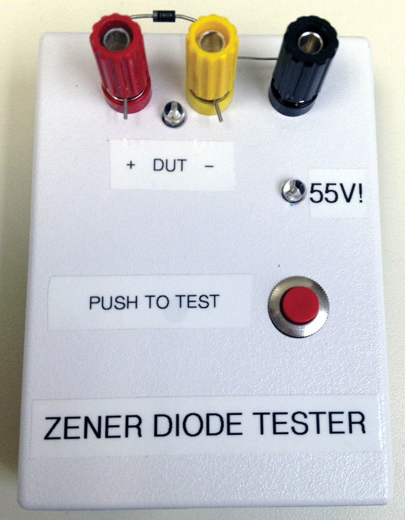 Zener Diode Tester Nuts Volts Magazine In Circuit Transistor Schematic When I Pick A From My Parts Cabinet Always Want To Check Its Breakdown Voltage Before Use It Project Just Be Sure There Wasnt