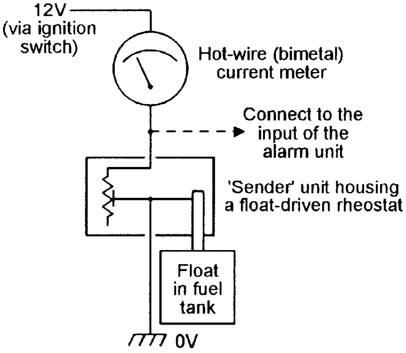 security electronics systems and circuits part 10 nuts volts basic circuit of a typical fuel level gauge