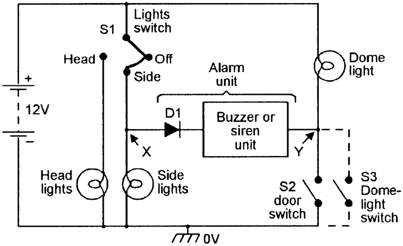Security electronics systems and circuits part 10 nuts volts basic type 2 lights are on alarm circuit cheapraybanclubmaster Gallery