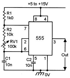 FIGURE 4 Variable Frequency 650Hz 72kHz Squarewave Generator
