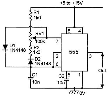 555 astable circuits nuts volts magazine rh nutsvolts com 555 Oscillator Schematic 555 VCO