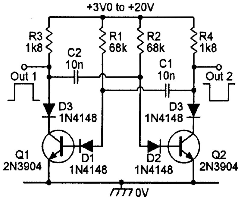 20 khz astable multivibrator with transistors automotive wiring