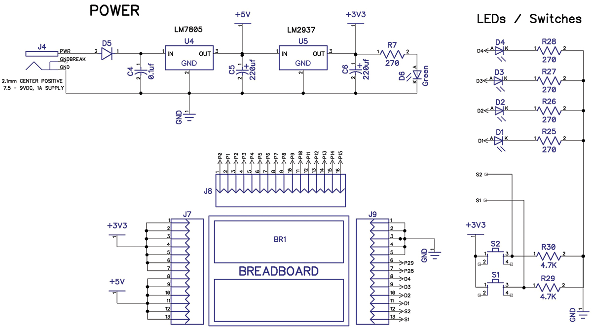 vintage computing building a propeller based mentoring platform schematic of amigo peripheral interfaces again circuit designs are standard