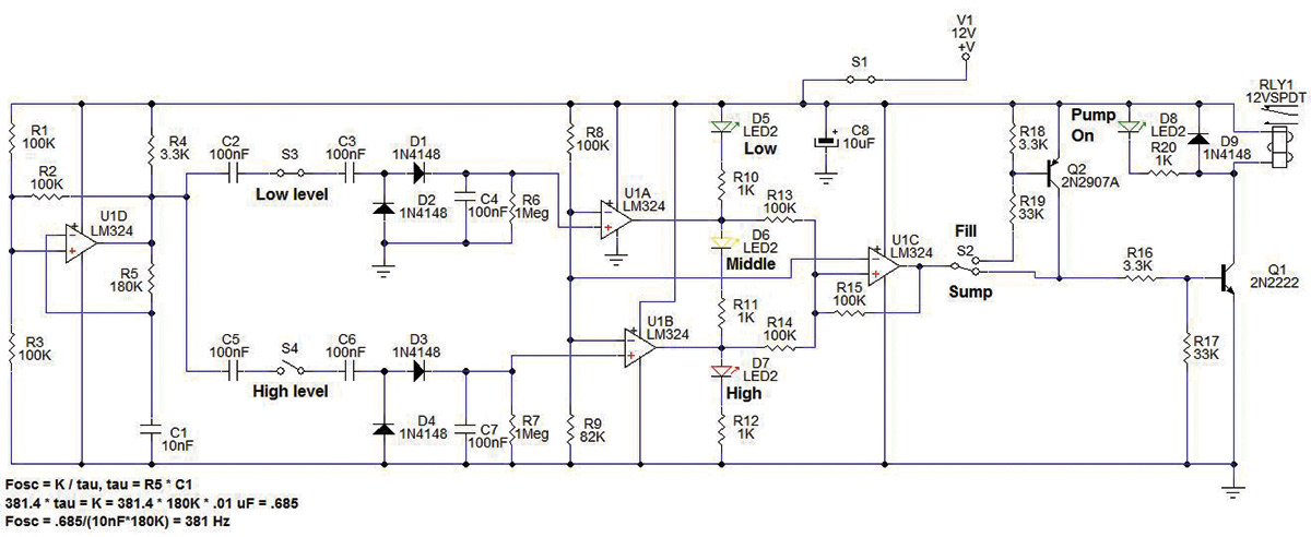 build a sump fill level controller nuts \u0026 volts magazineand control unit) \u2014 to detect the liquid level in a vessel such as a sump or storage tank the electrodes are represented in figure 1 as s3 and s4
