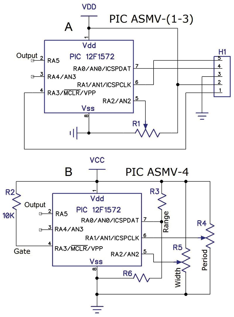 Replacing The 555 With A Pic Part 3 Digital Analog Nuts In This Circuit Ne555 Ic Is Used As Astable Multivibrator Due To Methods Asmv And 4 Processor Doesnt Need Be Dedicated Executing Code Schematic
