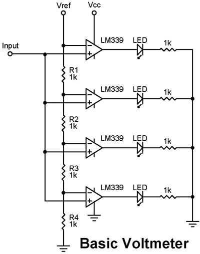 from the q and a nuts \u0026 volts magazineLed Voltmeter Circuit #6