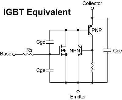 Nuts volts magazine for the electronics hobbyist besides the pnp transistor there is an npn transistor that forms a darlington pair figure 1 thereby giving the igbt its bipolar output characteristics ccuart Image collections