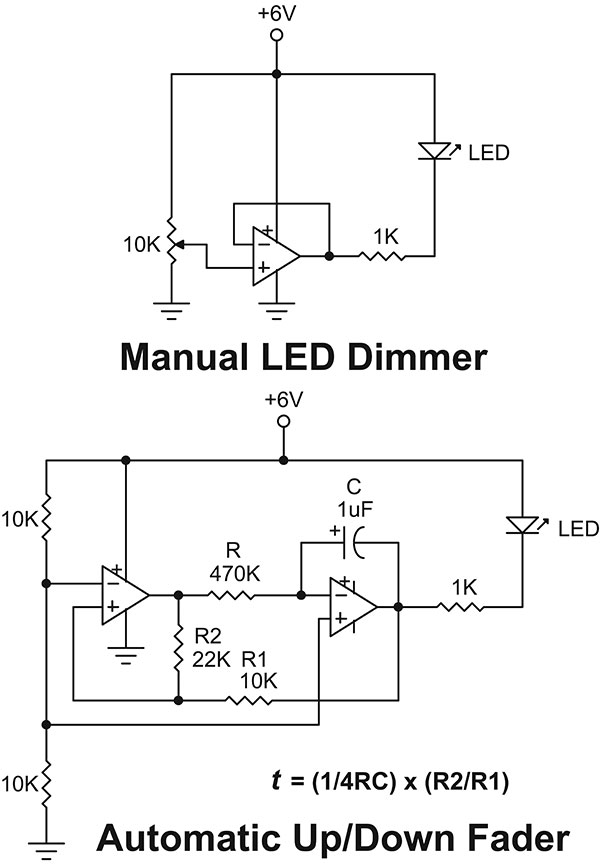 dark activated led fader circuit diagram wiring diagram db GMC Fuse Box Diagrams