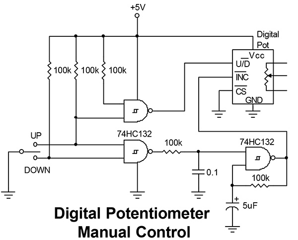 from the q and a nuts volts magazine rh nutsvolts com Potentiometer Schematic Digital Potentiometer Circuit