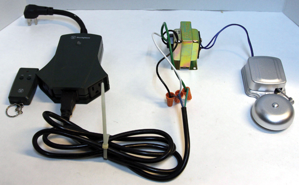 the ghost phone nuts volts magazine for the electronics hobbyist figure 7 the doorbell transformer hooked up to the wireless remote